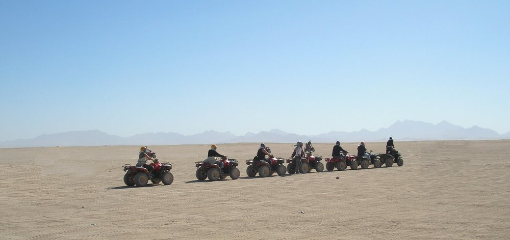 Morning Moto safari on the quads - 3 hours action trip from Hurghada