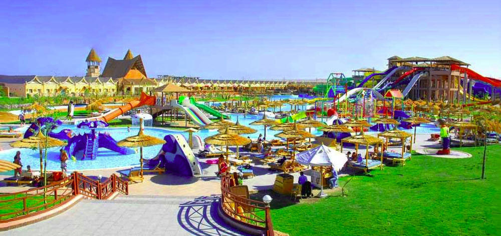 Visit water park Jungle Aqua Park from any hotel in Hurghada